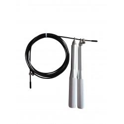 Toorx - Corda da salto veloce professionale in acciaio con manopole in alluminio