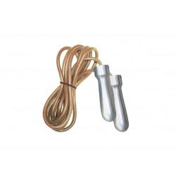 Toorx - Corda da salto in pelle professionale con manopole heavy in acciaio cromato