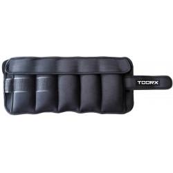 Toorx - Coppia polsiere/cavigliere appesantite con pesi estraibili 2 x 2,5 kg.