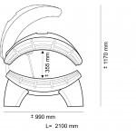 Hapro - Lettino solare ONYX 26/1 COMBI con lampada visto ad alta pressione