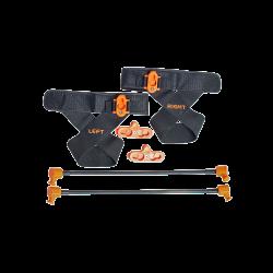 shadowboxer - Accessori gambe composto da 2 fasce strap per piedi, 2 snodi piroettanti, 2 elastici con sganci rapidi di intensità leggera (2 - 5 kg.)