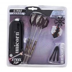 Unicorn - Set 3 freccette da competizione in tungsteno con punta in metallo, custodia e  accessori S700