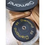 Diamond - Disco Bumper diam 45 cm - foro 50 mm 5/10/15/20/25 kg