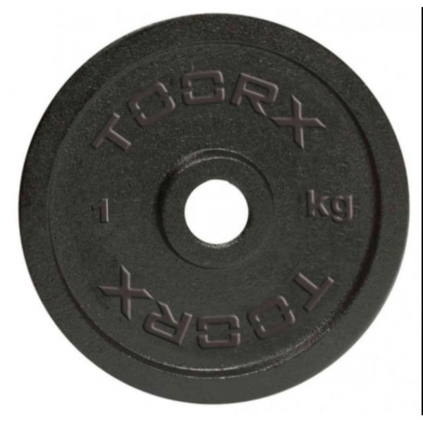 Toorx - Disco ghisa 25mm disponibile da 1,2,5,10,15,20 kg