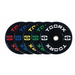 Toorx - Disco bumper Training absolute Toorx diam 45 cm - foro 50 mm da 10/15/20 kg