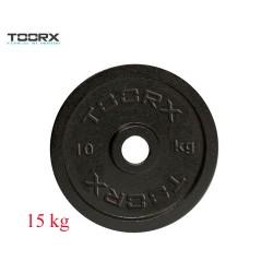 Toorx - Disco ghisa nera DGN-15 - 15 kg.