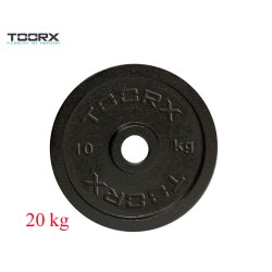 Toorx - Disco ghisa nera DGN-20 - 20 kg.