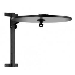 Toorx - Supporto a muro regolabile in altezza e ripiegabile con disco per palla veloce + gancio con cuscinetto a sfere