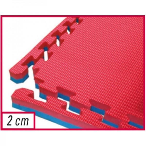 Toorx - Tatami ad incastro,100 x 100 x 2 cm superficie goffrata antiscivolo, anallergico