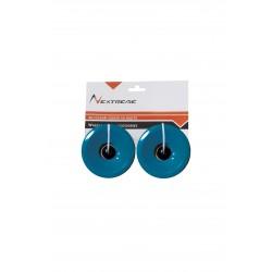 Nextreme - Coppia  ruote azzurre 70x50 mm PU con cuscinetti ABEC7 per longboard DROP PACIFIC