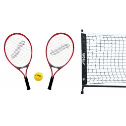 Stiga - Set MINITENNIS 2 racchette JR TECH 21, 1 pallina soft, rete supporti