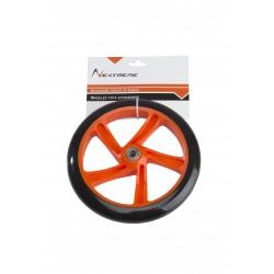 Nextreme - Ruota nera/arancio ø 200  mm.PU con cuscinetti ABEC7 per monopattini