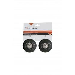 Nextreme - Coppia  ruote nere Ø 54x30 mm. PU con cuscinetti a sfera ABEC7 per pattini 2in1 REVERSE