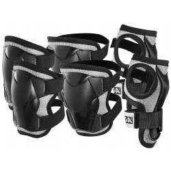 Stiga - Set di protezioni imbottite JUNIOR colore nero  ginocchia, gomiti, polsi