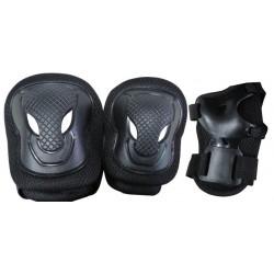 Nextreme - Set di protezioni SENIOR  nero peso utilizzatore oltre 50 kg.