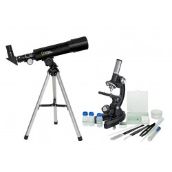 NATIONAL GEOGRAPHIC - Set Telescopio + Microscopio (composto da Telescopio 50/360  + Miscoscopio 300X-1200X)