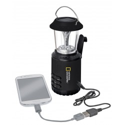 NATIONAL GEOGRAPHIC - Lanterna solare da campeggio con radio